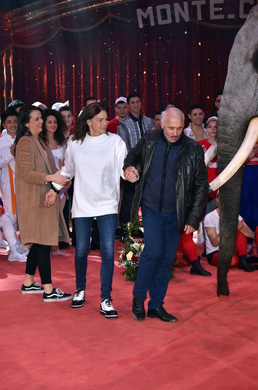 La princesse Stéphanie de Monaco et sa fille Pauline Ducruet à Monaco, le 1er février 2018
