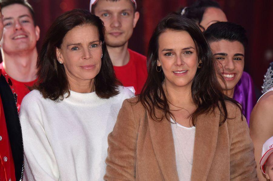 La princesse Stéphanie de Monaco avec sa fille aînée Pauline Ducruet à Monaco, le 1er février 2018