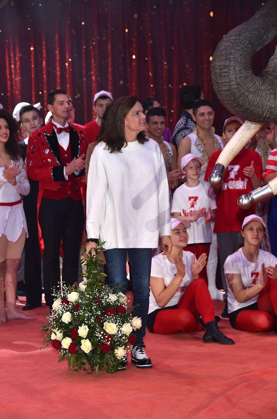 La princesse Stéphanie de Monaco à Monaco, le 1er février 2018