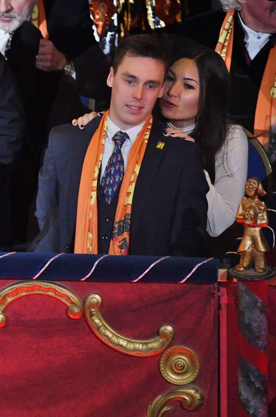 Louis Ducruet et sa fiancée Marie Chevallier à Monaco, le 22 janvier 2019