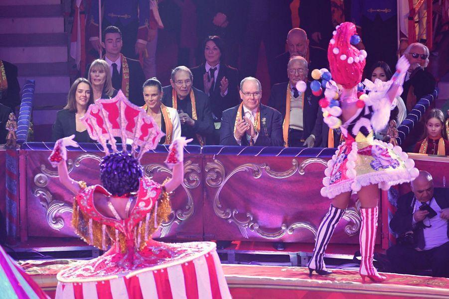 La famille princière à Monaco, le 22 janvier 2019