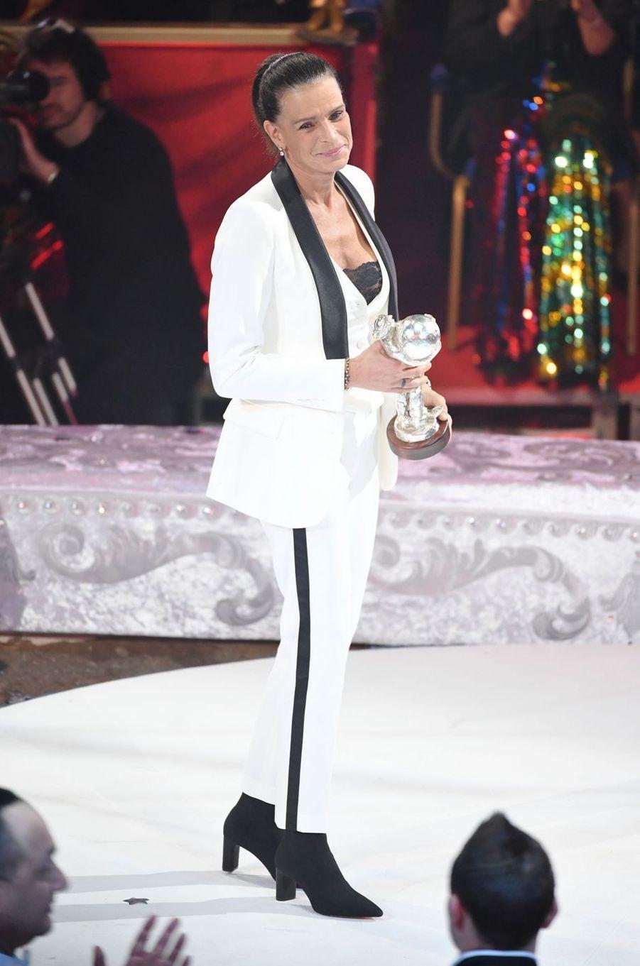 La princesse Stéphanie de Monaco à Monaco, le 22 janvier 2019