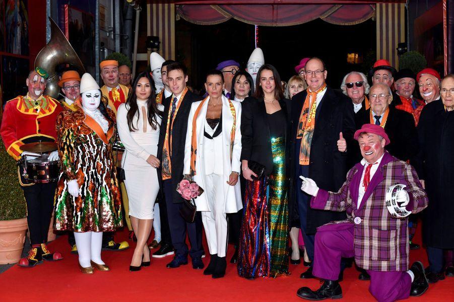 La famille princière de Monaco à Monaco, le 22 janvier 2019