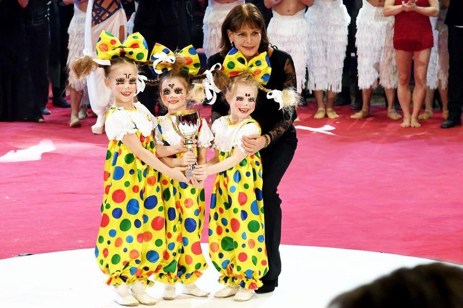 Stephanie Et Albert II De Monaco, Louis Et Camille Au Festival Du Cirque Le 24 Janvier 2017 7