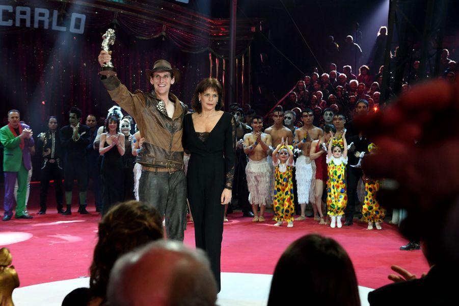 Stephanie Et Albert II De Monaco, Louis Et Camille Au Festival Du Cirque Le 24 Janvier 2017 9
