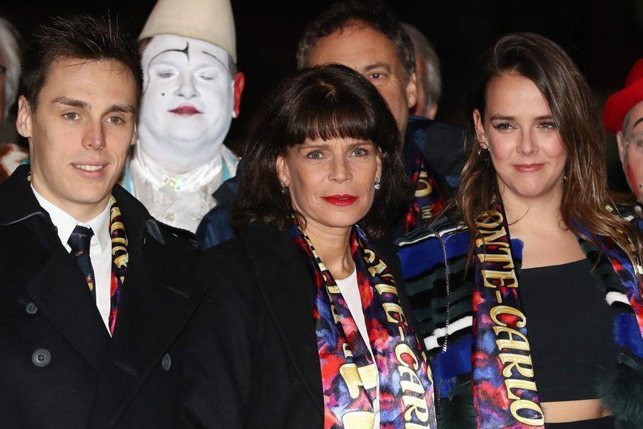 La Princesse Stéphanie De Monaco, Pauline Ducruet, Louis Et Sa Compagne Marie, Le Prince Albert À La Soirée D'ouverture Du 41e Festival Du C...