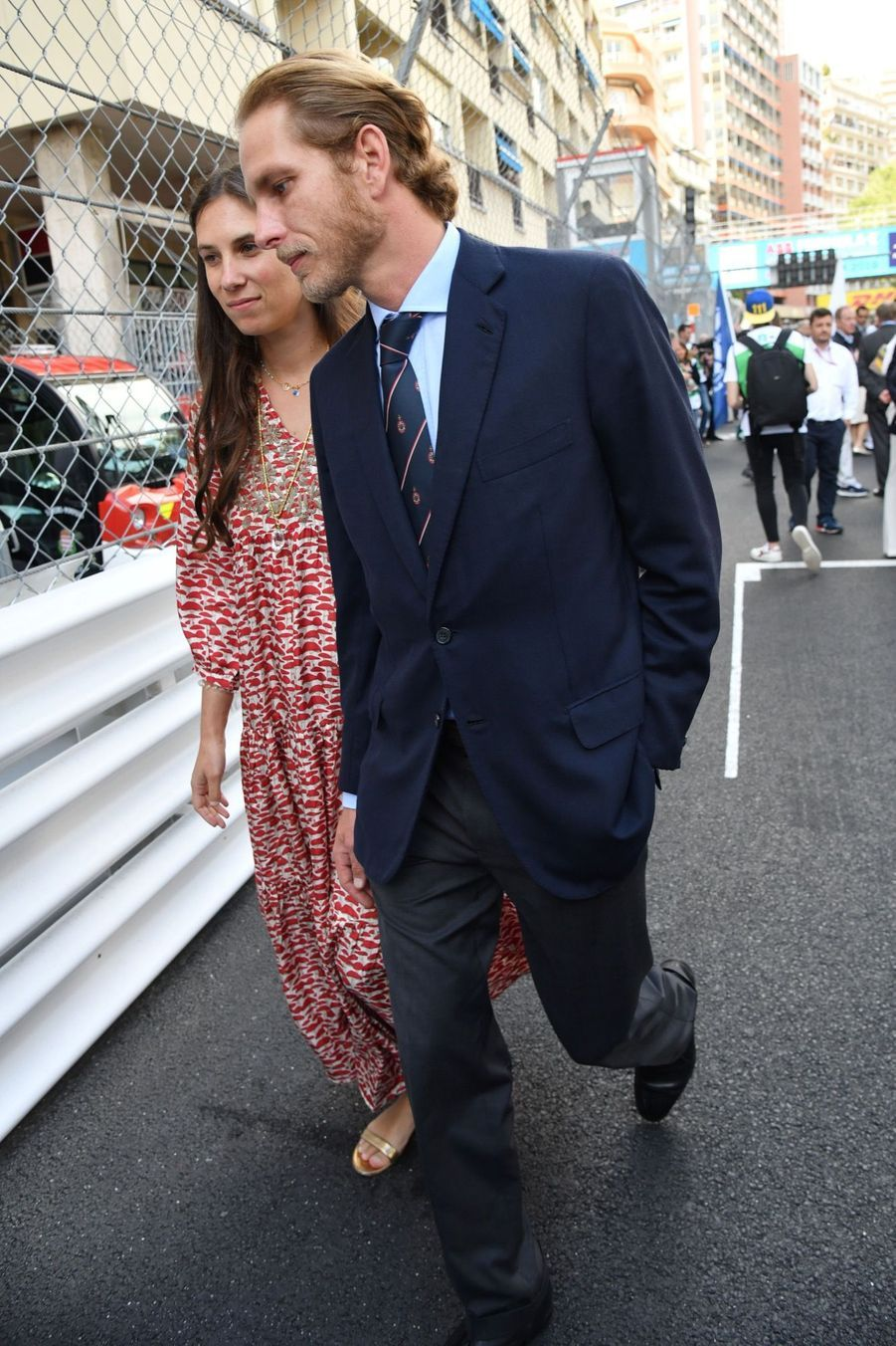Andrea Casiraghi et son épouse Tatiana