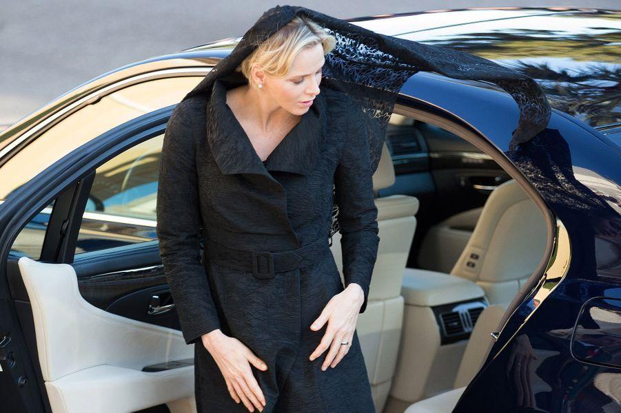 La princesse Charlène de Monaco, à Monaco le 7 avril 2015