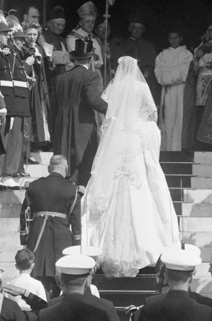 Grace Kelly et son père à Monaco, le 19 avril 1956