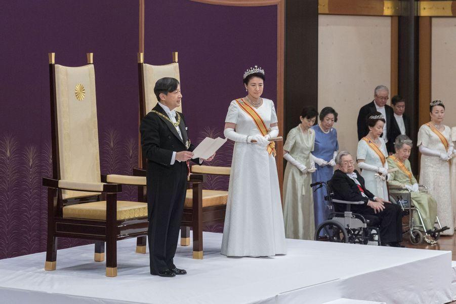 L'impératrice Masako du Japon, le 1er mai 2019, jour où son mari Naruhito est devenu empereur du Japon