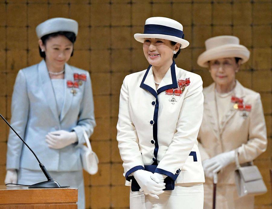Masako, premier engagement en solo en tant qu'impératrice du Japon, le 22 mai 2019