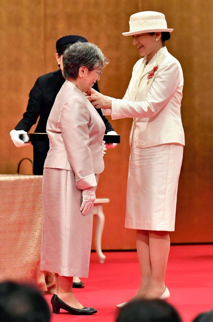 L'impératrice Masako du Japon remet des distinctions, le 7 août 2019