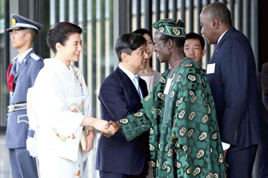 L'impératrice Masako du Japon avec des leaders africains, le 30 août 2019