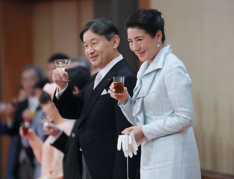 L'impératrice Masako du Japon lors d'un banquet dans le cadre des cérémonies d'intronisation de son mari l'empereur Naruhito, le 29 octobre 2019