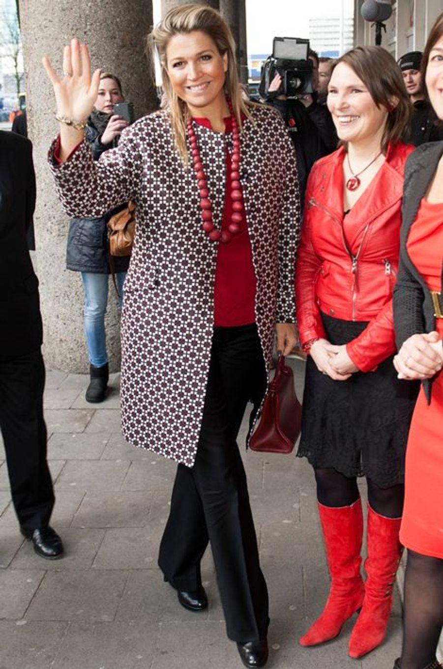 La reine Maxima des Pays-Bas à Utrecht, le 4 février 2015