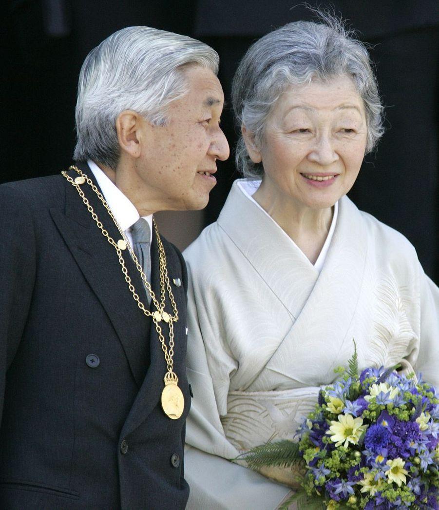 L'empereur Akihito du Japon et l'impératrice Michiko, le 23 mai 2007