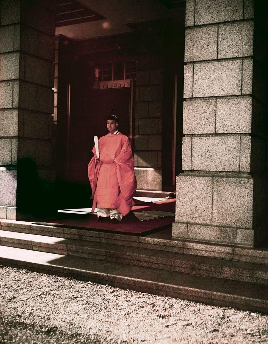Le prince Akihito du Japon à 18 ans, le 14 novembre 1952