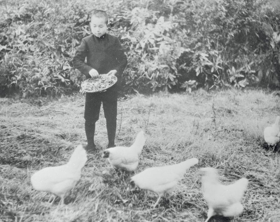 Le prince Akihito du Japon en 1946