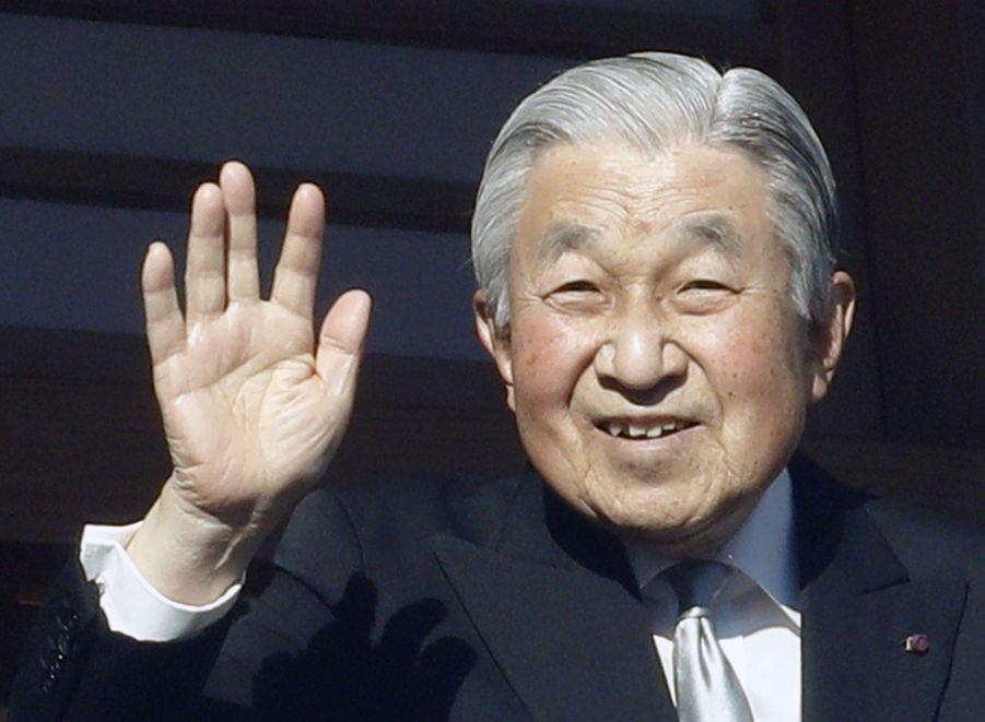 L'empereur Akihito du Japon et l'impératrice Michiko, le 2 janvier 2019