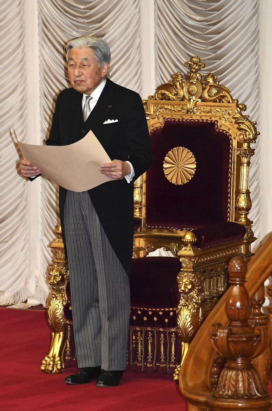 L'empereur Akihito du Japon, le 28 janvier 2019