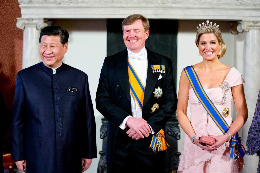 Xi, le roi Willem-Alexander et la reine Maxima