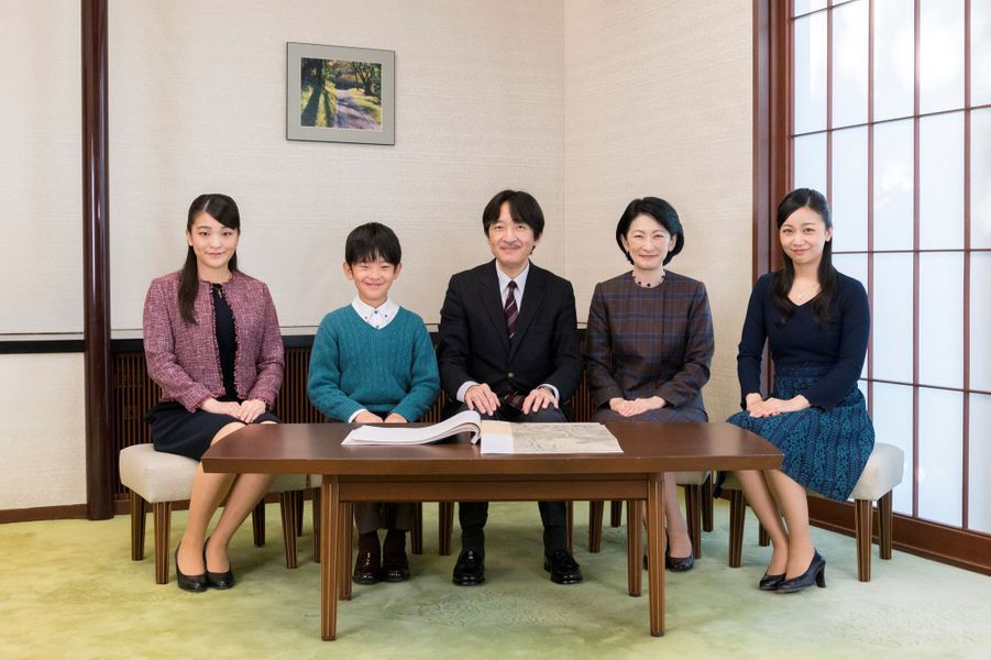 Le prince Fumihito d'Akishino et sa famille. Photo diffusée pour ses 53 ans, le 30 novembre 2018