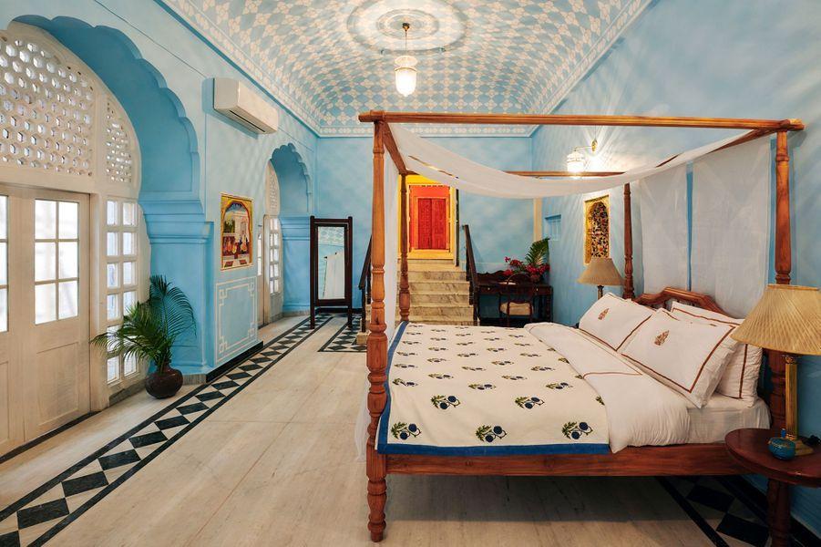 La chambre de la suite Gudliya dans le City Palace de Jaipur
