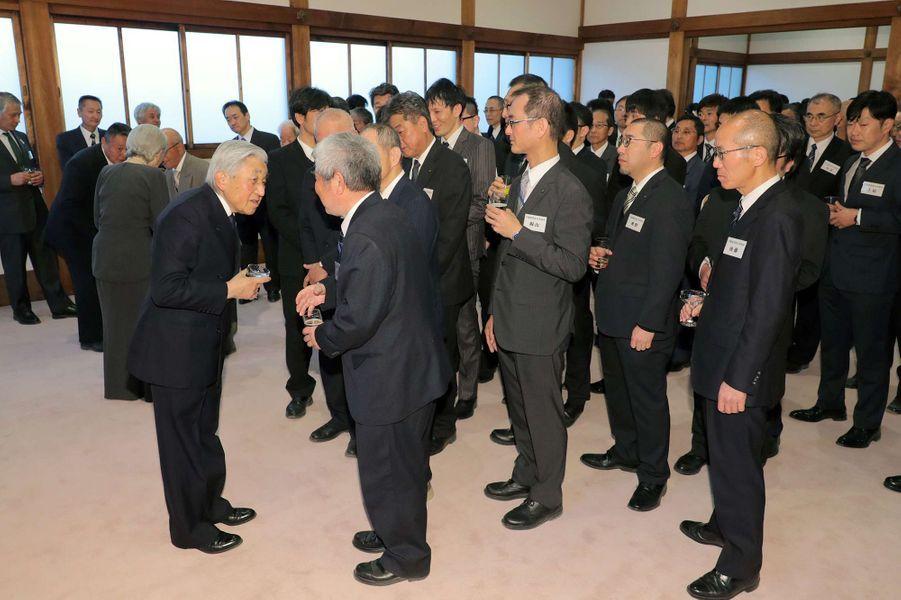 L'empereur Akihito du Japon à Kyoto, le 27 mars 2019