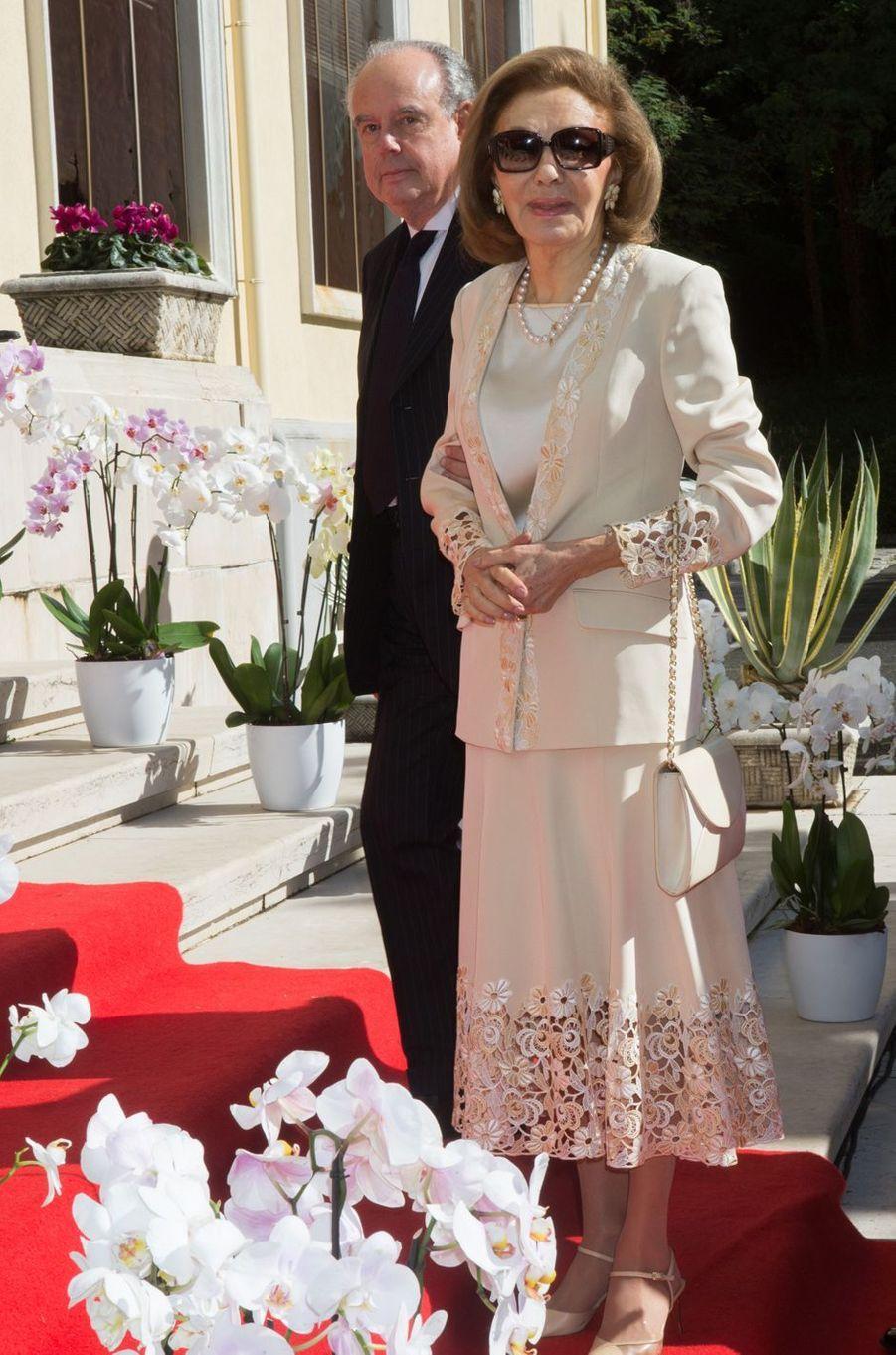 Frédéric Mitterrand et l'impératrice d'Iran Farah Pahlavi