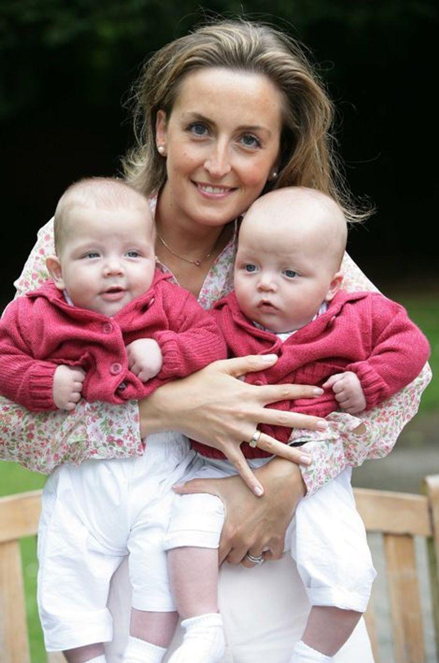 Nicolas et Aymeric, fils jumeaux de Laurent et Claire de Belgique en 2006