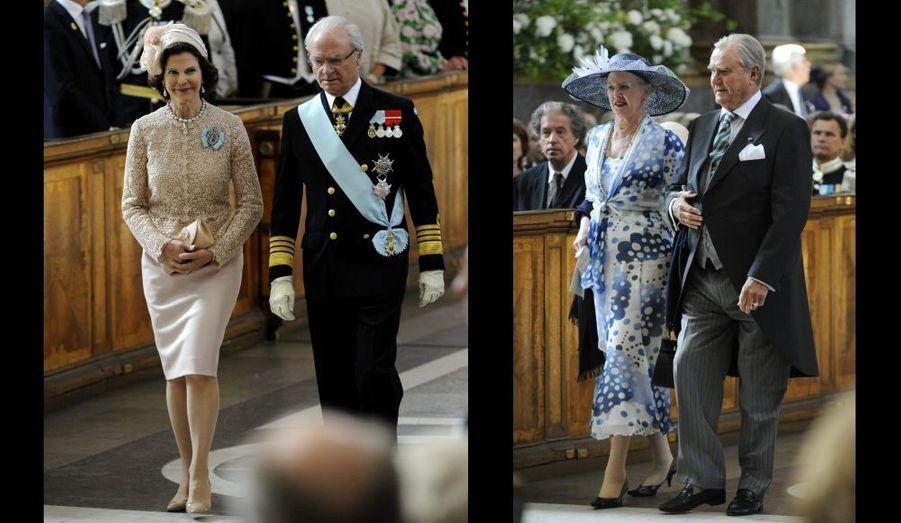 Après la reine Margrethe et le prince Henrik qui ont vu leur petite-fille Athena (fille de Joachim et Marie) être baptisée hier, c'est au tour de Silvia et Carl-Gustaf d'assister au baptême de leur petite-fille.