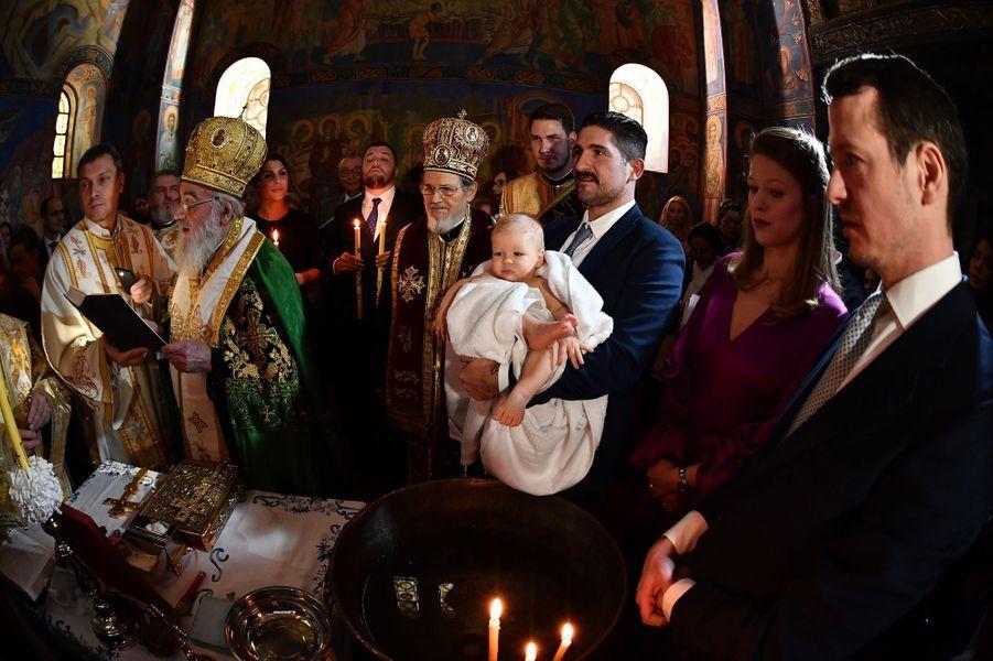 Baptême du prince Stefan de Serbie à Belgrade, le 15 décembre 2018