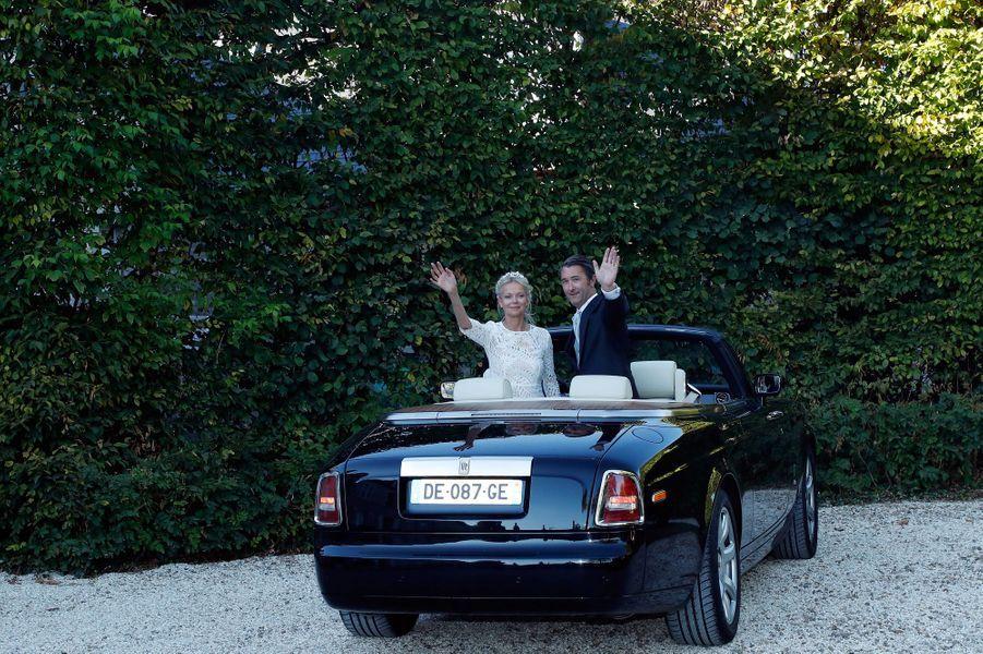 La princesse Hélène de Yougoslavie et Stanislas Fougeron au château de Villeprévost à Tillay-le-Péneux, le 14 septembre 2018