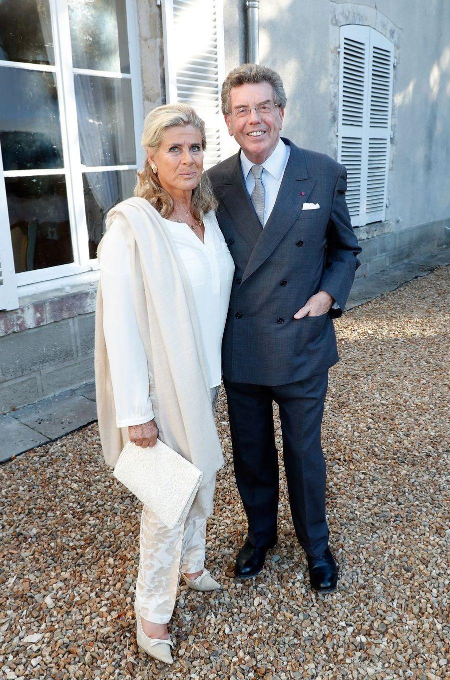 La princesse Lea de Belgique, avec le politicien belge Alain Zenner, à Tillay-le-Péneux le 14 septembre 2018