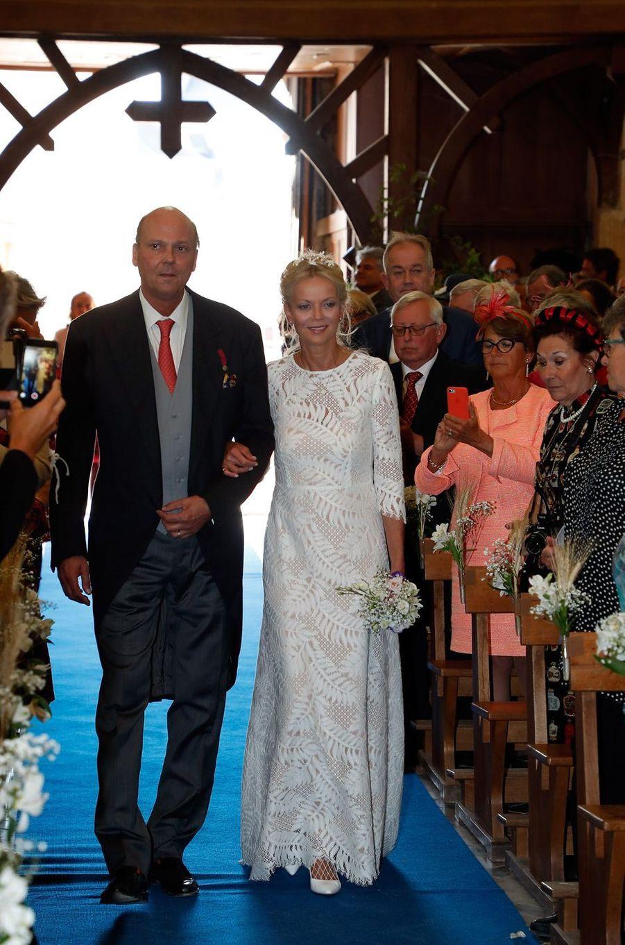 La princesse Hélène de Yougoslavie et son jumeau le prince Serge à Janville, le 14 septembre 2018
