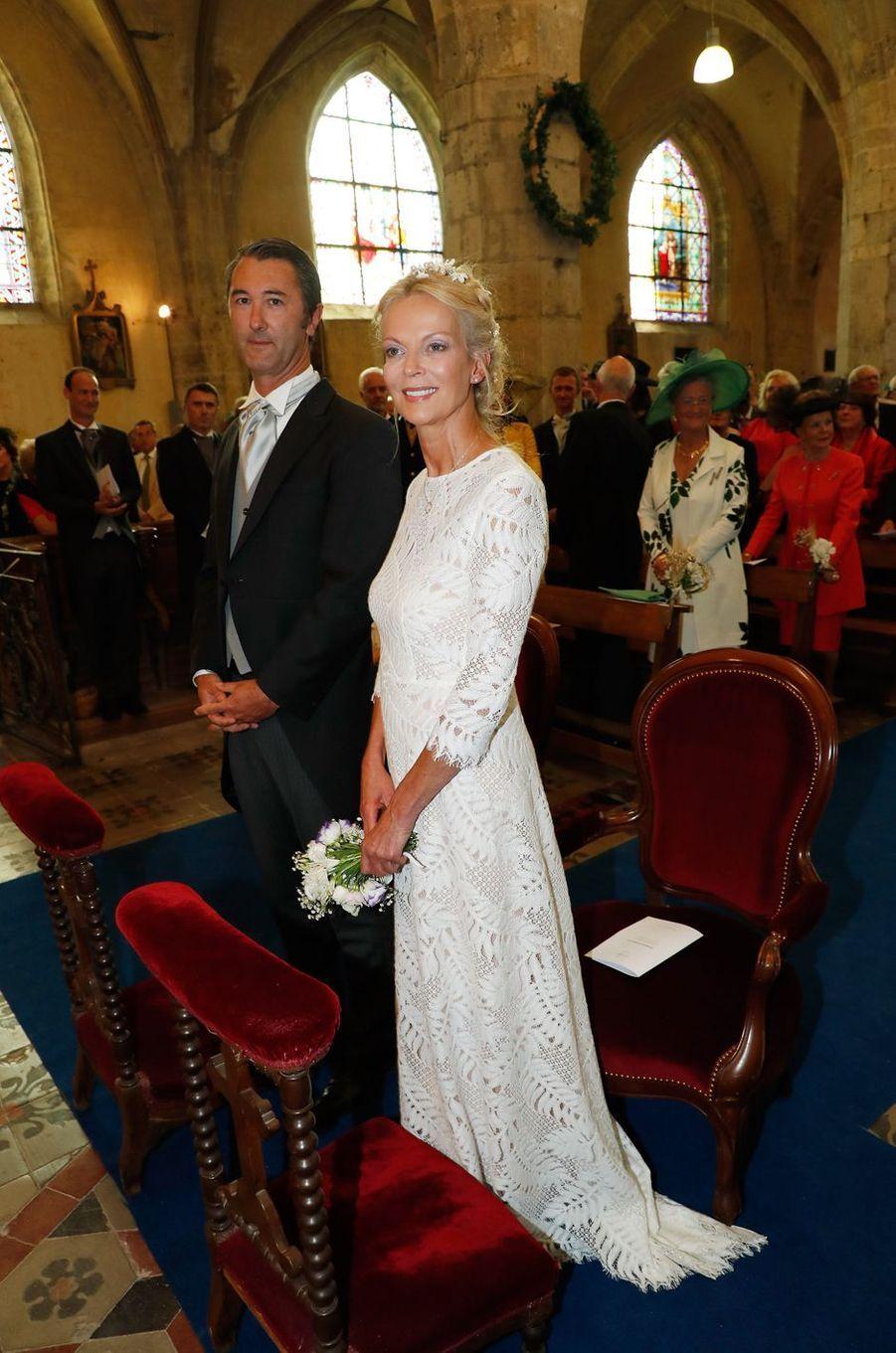La princesse Hélène de Yougoslavie et Stanislas Fougeron à Janville, le 14 septembre 2018