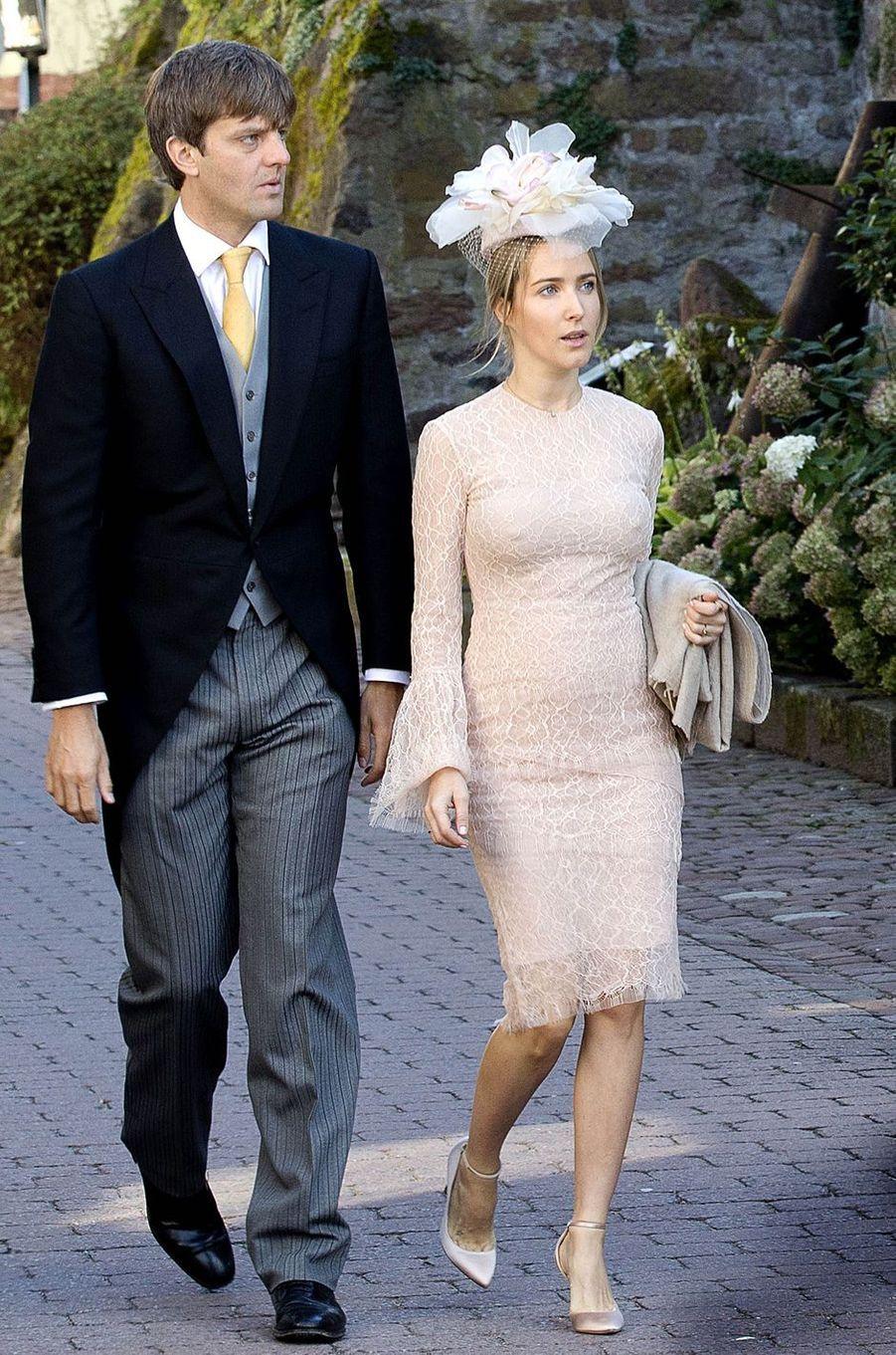 Le prince Ersnt Auguste de Hanovre junior et sa femme Ekaterina Malysheva à Amorbach, le 16 septembre 2017
