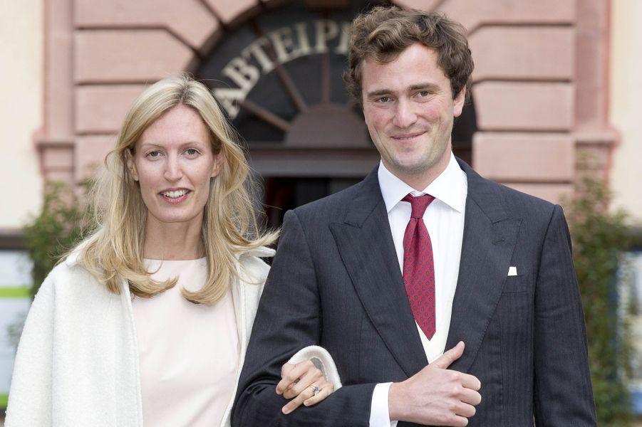 Le prince Amedeo de Belgique et la princesse Elisabetta à Amorbach, le 16 septembre 2017