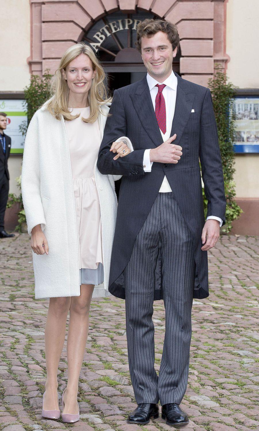 Le prince Amedeo de Belgique et sa femme la princesse Elisabetta à Amorbach, le 16 septembre 2017