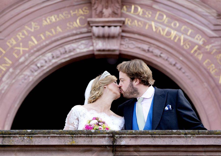 La princesse Viktoria Luise de Prusse et le prince Ferdinand de Leiningen à Amorbach, le 16 septembre 2017