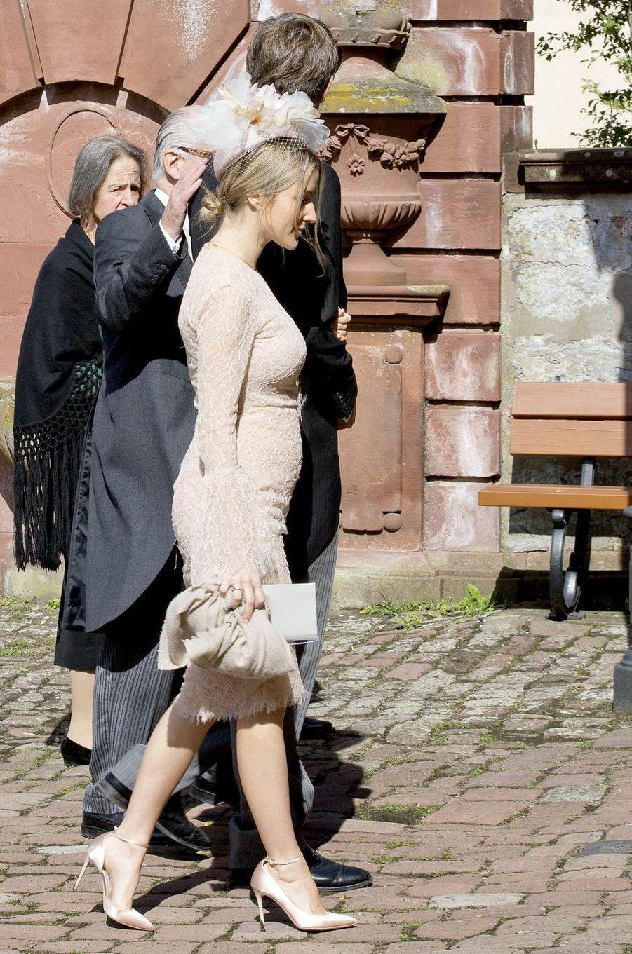 Ekaterina Malysheva, l'épouse du prince Ersnt Auguste de Hanovre junior à Amorbach, le 16 septembre 2017