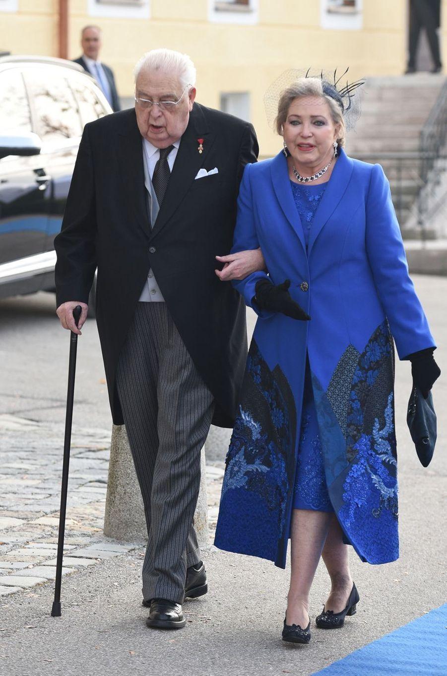 Le duc Carl et la duchesse Diane de Wurtemberg (Diane d'Orléans ou de France), grands-parents paternels de la duchesse Sophie à Tegernsee, le 20 octobre 2018