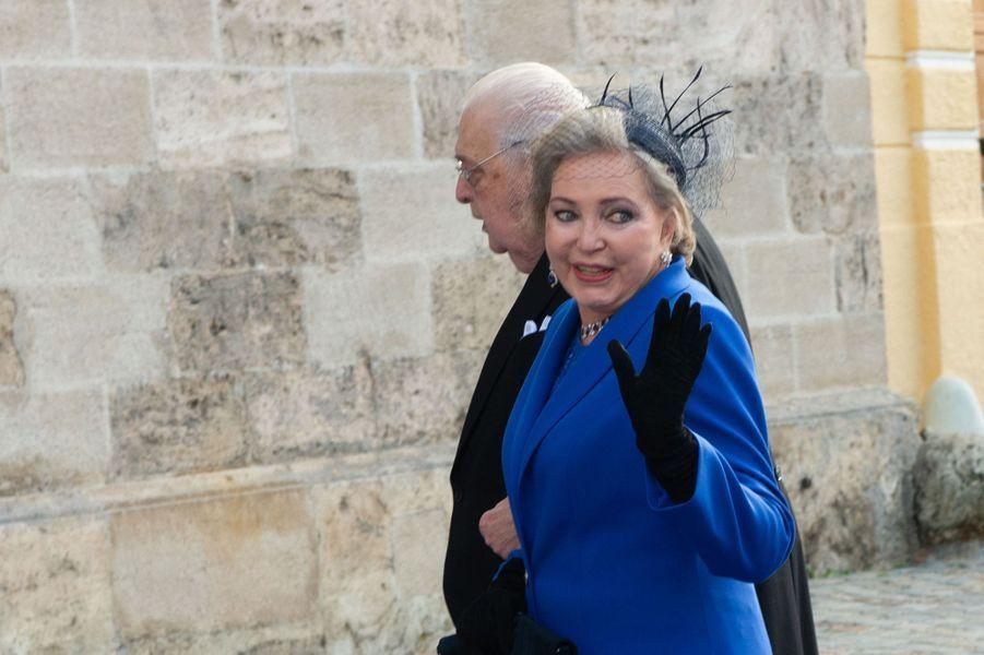 Le duc Carl et la duchesse Diane de Wurtemberg, grands-parents paternels de la duchesse Sophie à Tegernsee, le 20 octobre 2018