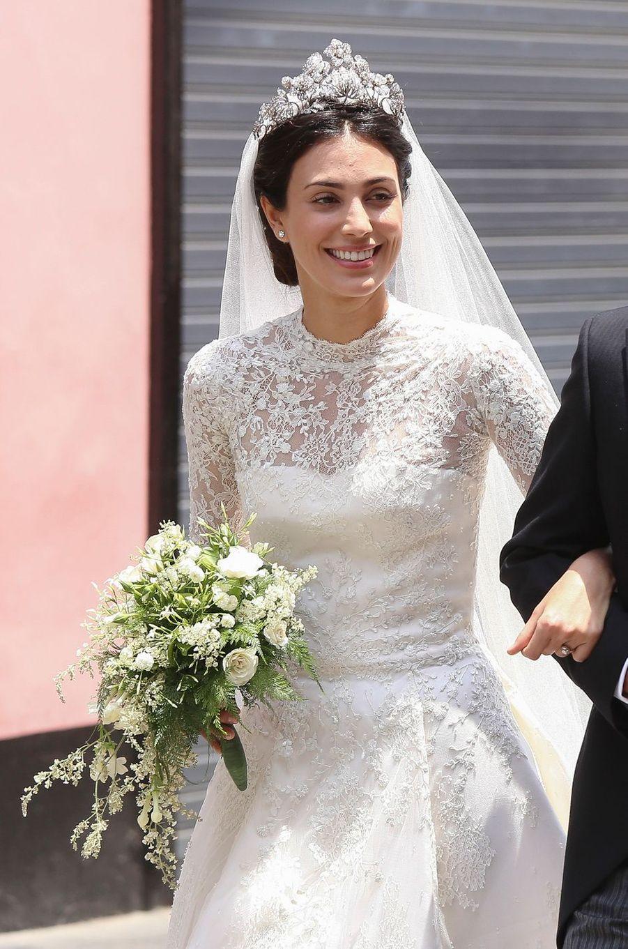 Alessandra de Osma, le jour de son mariage, à Lima le 16 mars 2018