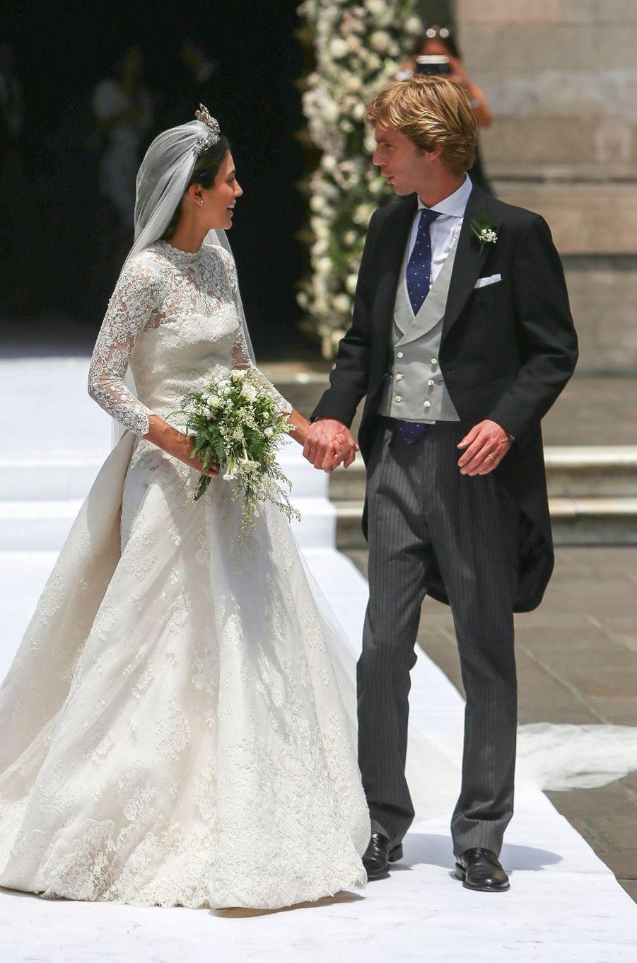 Alessandra de Osma et le prince Christian de Hanovre, le jour de son mariage, à Lima le 16 mars 2018