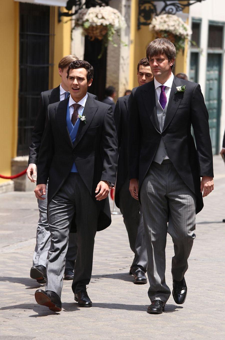 Le prince Ernst-August junior de Hanovre (à droite) à Lima, le 16 mars 2018