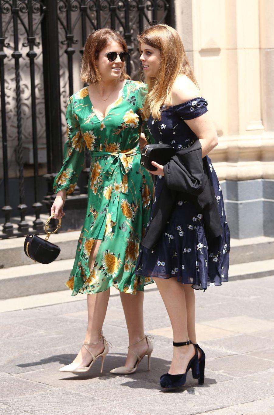 Les princesses Eugenie et Beatrice d'York à Lima, le 16 mars 2018