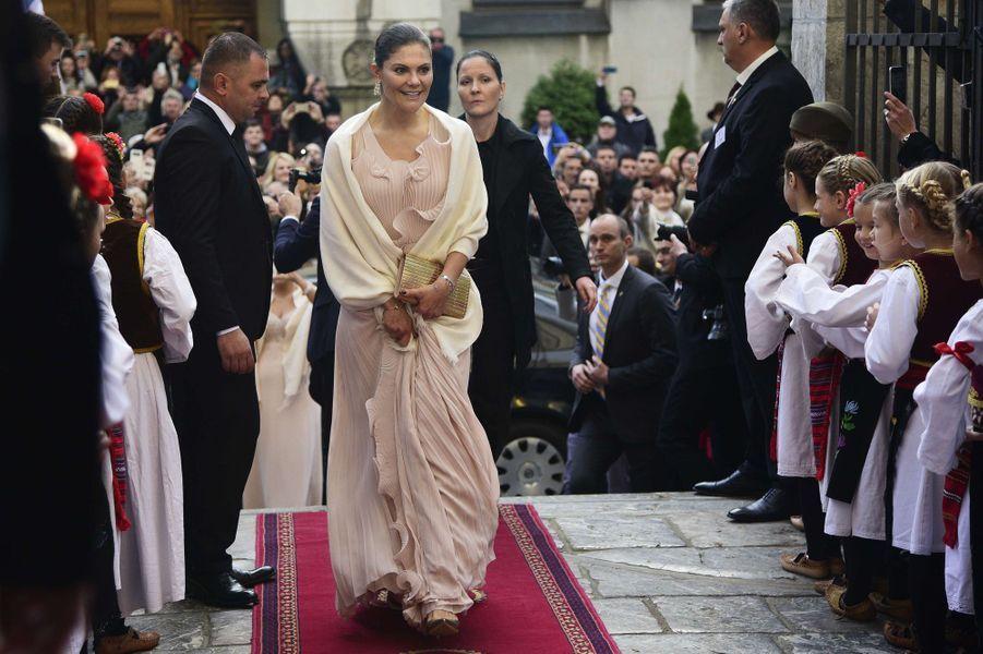 La princesse Victoria de Suède à Belgrade, le 7 octobre 2017