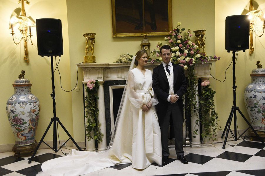 Le prince Filip de Serbie et Danica Marinkovic à Belgrade, le 7 octobre 2017