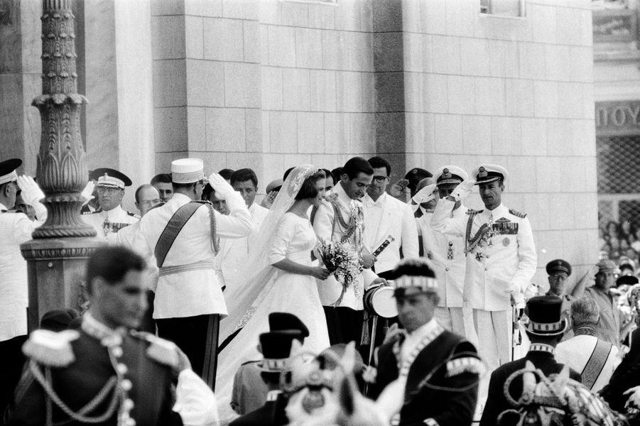 Mariage du roi Constantin II de Grèce et de la princesse Anne-Marie de Danemark, à Athènes le 18 septembre 1964